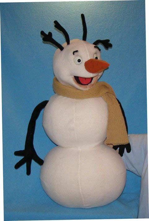 Bonhomme de neige ,  marionnette poupée