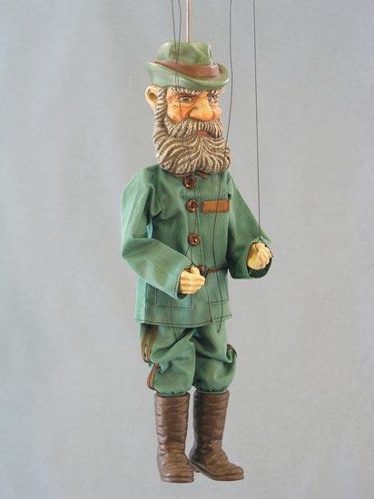 Chasseur , marionnette poupée
