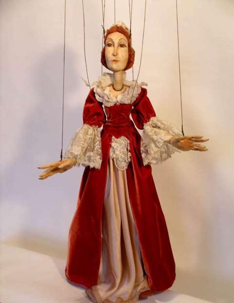 Dama baroque , marionnette poupée