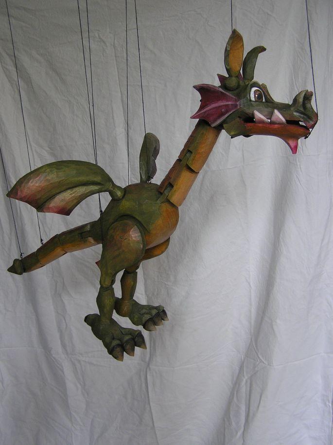 Dragon , marionnette poupée