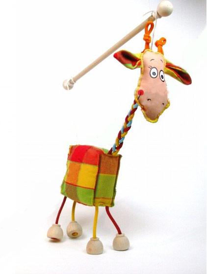Girafe , marionnette poupée