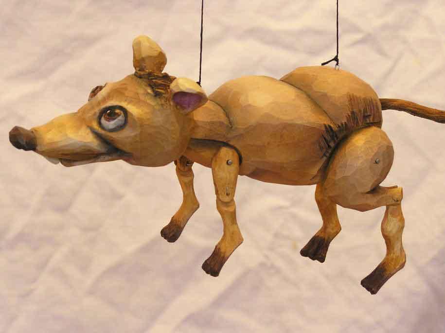 Rat , marionnette poupée