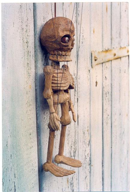 Squelette , marionnette poupée
