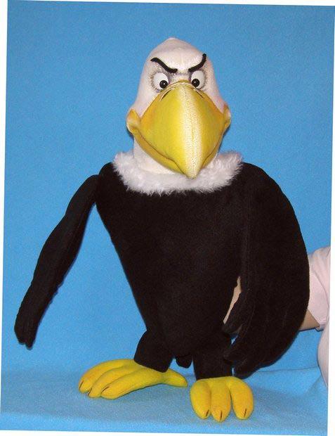 Aigle  ,  marionnette poupée