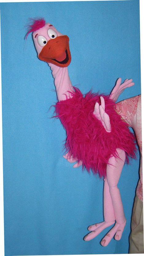 Autruche ,  marionnette poupée