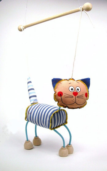 Chat , marionnette poupée