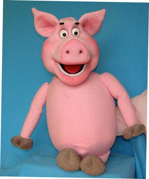 Cochon de lait ,  marionnette poupée