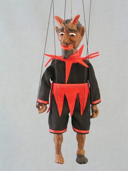 Diable , marionnette poupee
