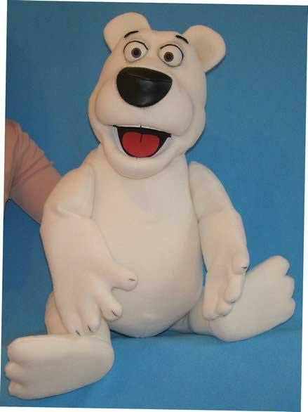 Ours blanc ,  marionnette poupée