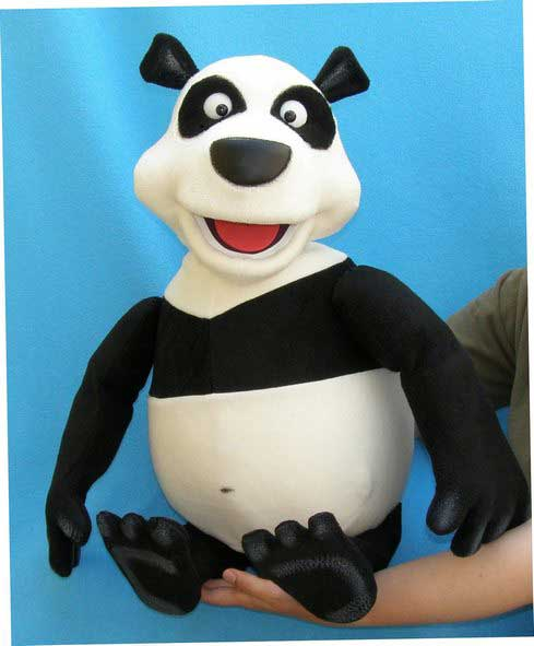 Panda ,  marionnette poupée