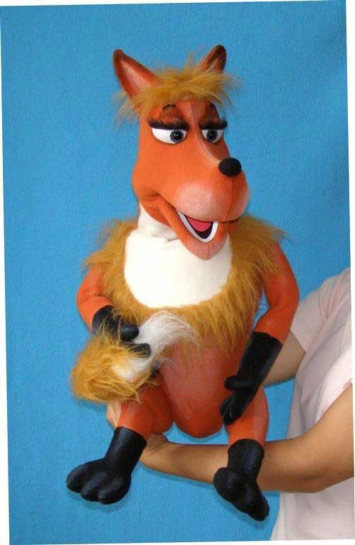 Renard  ,  marionnette poupée