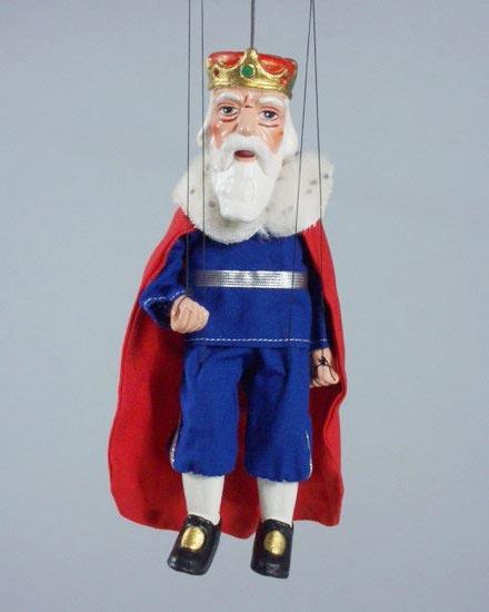 Roi , marionnette poupee