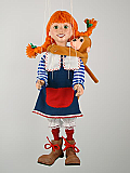 Pippi , marionnette poupée