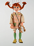 Fifi Brindacier pippi ,marionnette poupee
