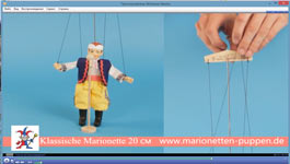 Conduire Marionnettes classiques, 20cm
