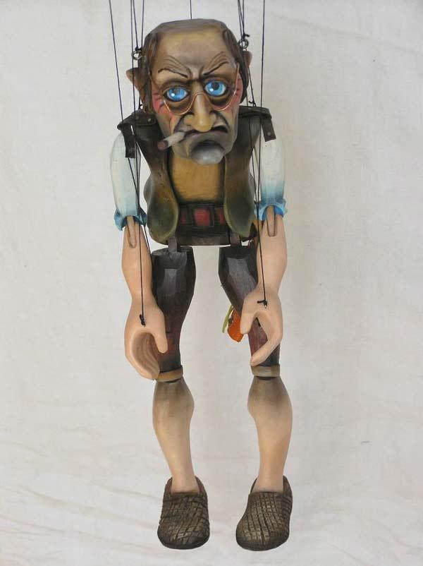 Antiquaire marionnette poupée