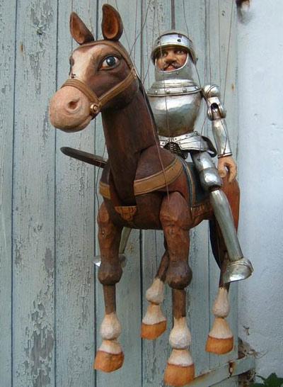 Chevalier errant marionnette poupée