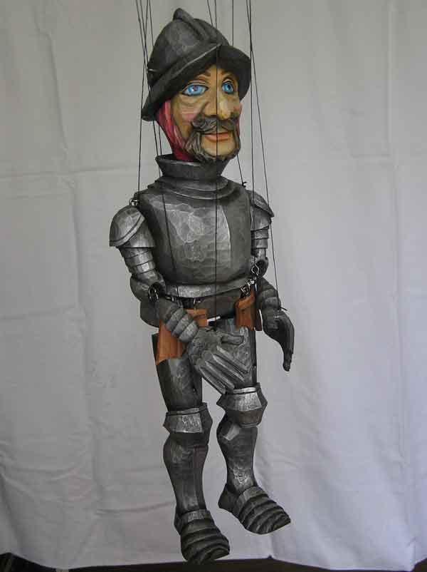 Chevalier marionnette poupée