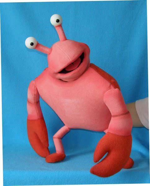 Crabe marionnette poupée
