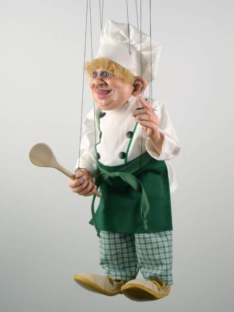 Cuisinier marionnette poupee