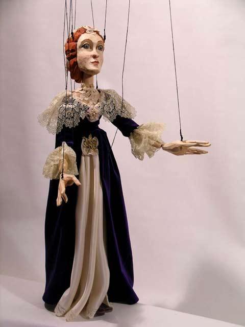 Dama baroque marionnette poupée