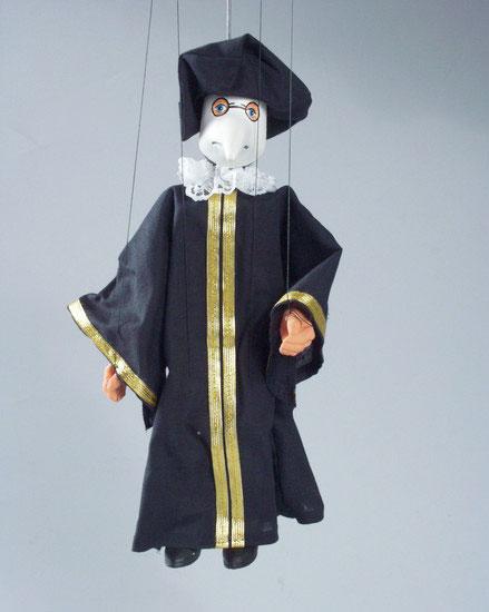 Dr. Peste Harlequin marionnette poupée