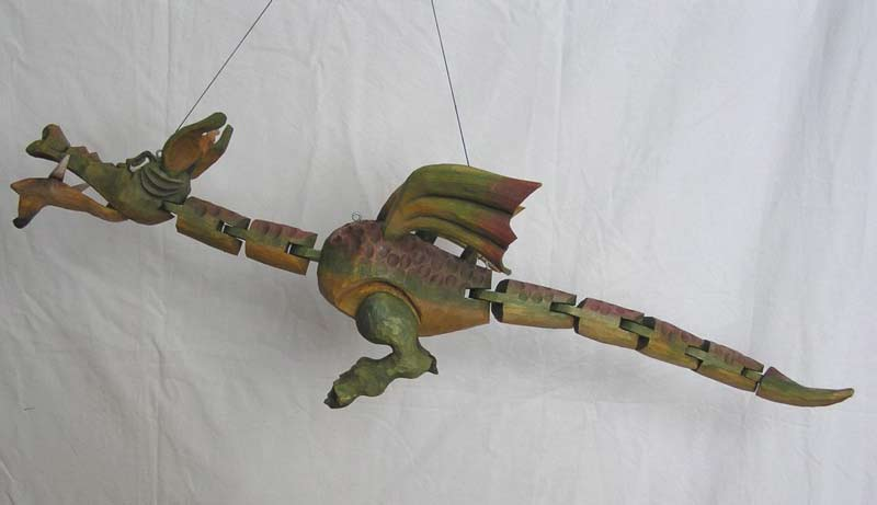 Dragon marionnette poupée