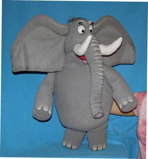 Elephant marionnette poupée