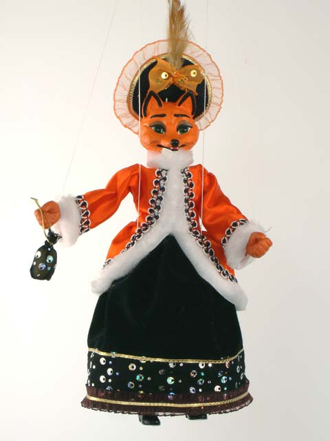 Maître Renard marionnette poupée
