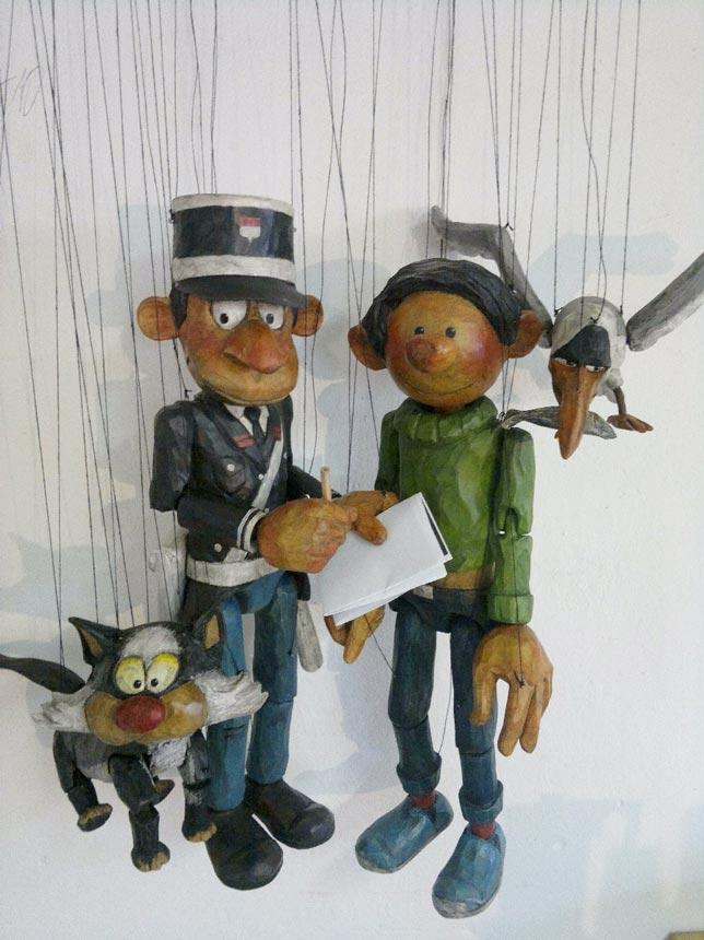 Gaston lagaffe marionnettes en bois