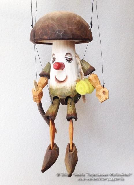 Cèpes marionnette en bois