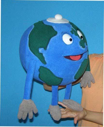 Globe ,  marionnette poupée