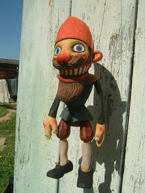 Gnôme marionnette poupée