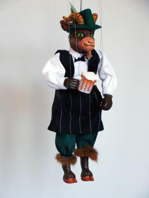 Bouc marionnette poupée