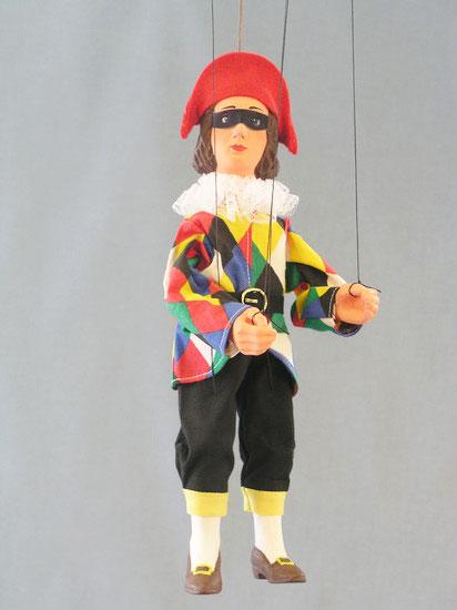 Harlequin marionnette poupée