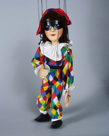 Harlequin , marionnette poupée