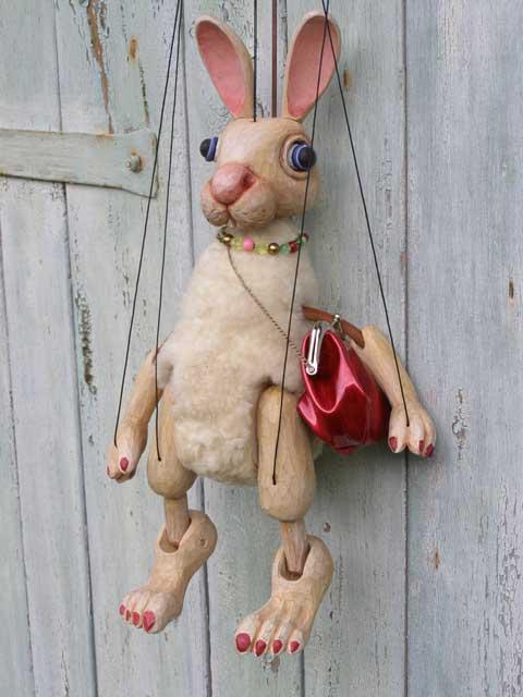 Lapine marionnette poupée
