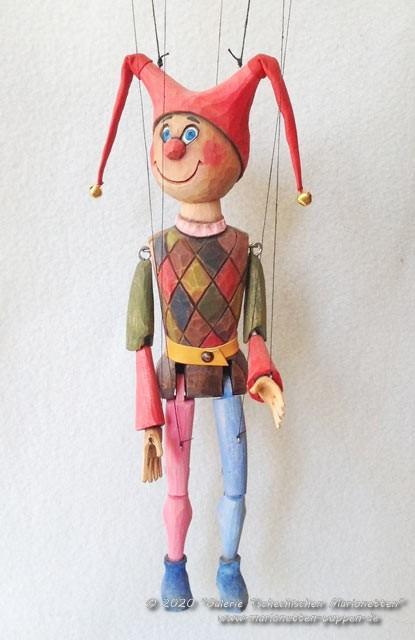Bouffon marionnette en bois