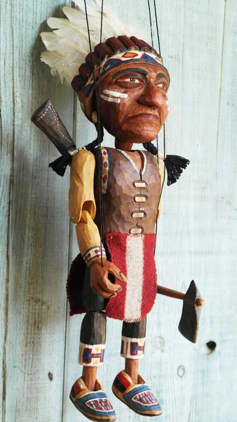 Chef des indiens marionnette