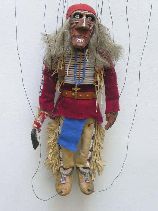 Indien marionnette en bois