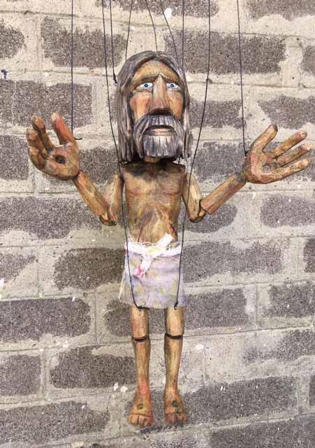 Jesus marionnette en bois