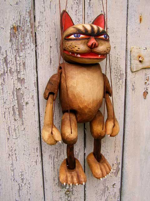 Le Chat marionnette poupée