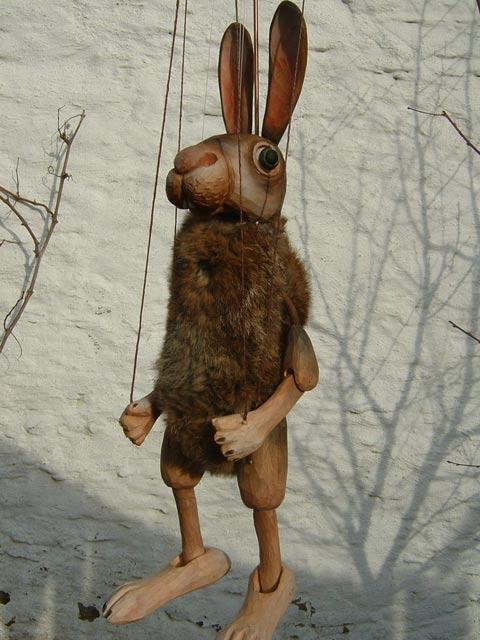 Lièvre marionnette poupée