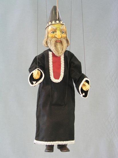 Magicien marionnette poupée