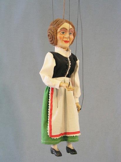 Paysane marionnette poupée