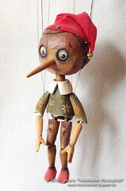 Pinocchio nègre marionnette en bois