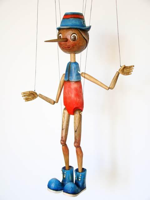 Pinocchio marionnette en bois