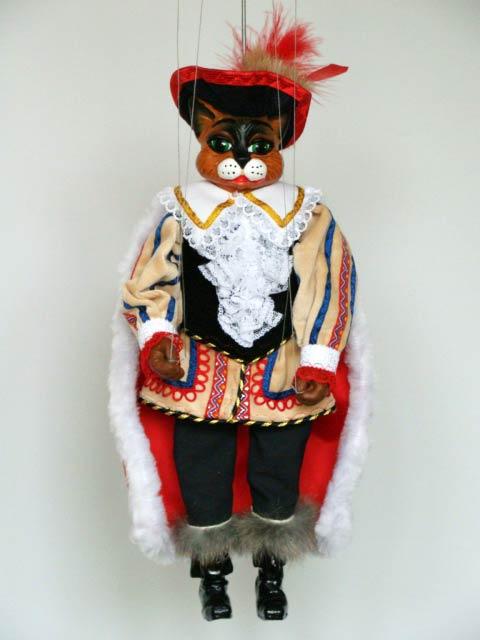 Le Chat botté , marionnette poupée