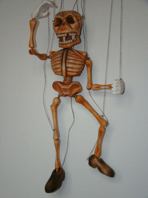 Squelette marionnette poupée