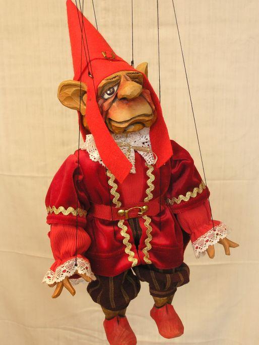 Vénitien gnôme  , marionnette poupée